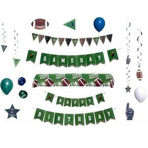 Football Party Decorations 81 Piece Set Green